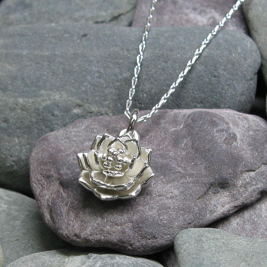 Lotus flower pendant silver seas jewellery lotus flower pendant mightylinksfo